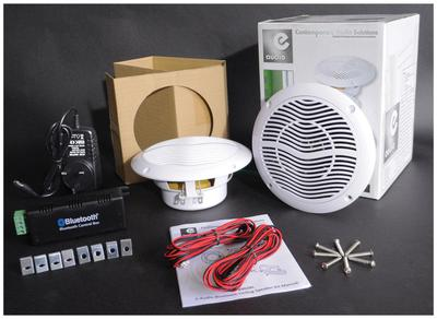 "E-Audio 2 x 5.25"" Bluetooth Ceiling Speaker Kit With Cable & Amp"