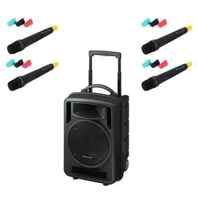 TXA1020 Quad Portable PA System with 4 x Hand Held Microphones