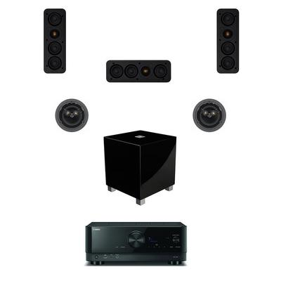 Yamaha 5.1 with Monitor Audio Speakers and REL Sub