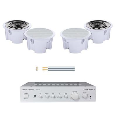 Madison Amp With 4 x Ceiling Speakers & 100m Cable