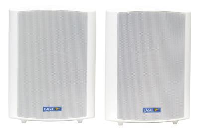 Pair of White 100V Line 50W Background Music Speakers