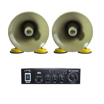 2 x Roof Mountable Horn Speakers With 2 x 50W Stereo Amplifier