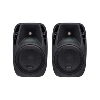 "Gemini Pair Of 10"" Speakers With Mixer And Microphone"