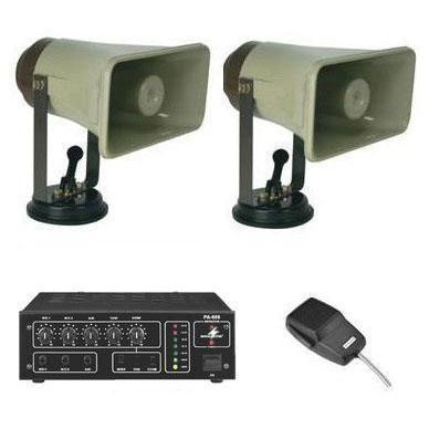 Roof Mount Pa System 5 With Two Speakers 50w