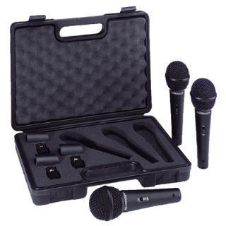 Pack of 3 Dynamic Microphones