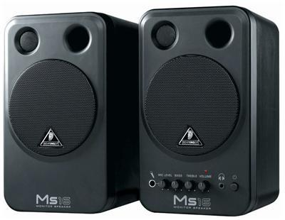 Behringer Black 2x 8W Monitor Speakers MS16. Boxed in Pairs