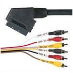 Scart Plug To 6 X RCA Phono Plugs 1.5m