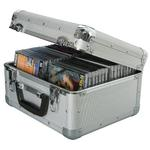 Robust Aluminium Flight CD Case Holds 40 CDs