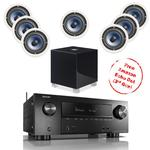 Denon AVR-X2500H With 7 RC60i And 1 REL T5i Subwoofer