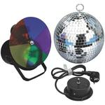 IMG Stageline LE-3SP 200mm Mirror Ball Complete Set