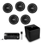 Yamaha RX-V681 7.2 Amplifier KEF Ci160CR Ceiling Speakers and Subwoofer