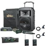 MiPro MA-708 with CD, 2 x Tie-Clip & 1 x Handheld Wireless Mics