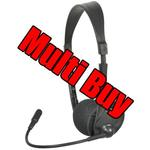Multi Buy: 30 x Multimedia Headsets With Boom Microphone