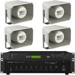 Bluetooth Complete PA System with 4 horn speakers