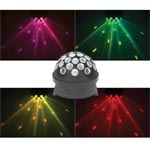 Rotating LED Fireball Party Light With Pink, Green, Yellow And Red Background Effects