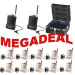 ATS-10 Tour Guide System Megadeal - 2 x Transmitters 10 Receivers and 1 x Charging Case