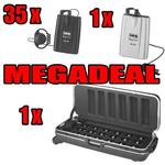 ATS-16 Tour Guide System Megadeal - 1 x Transmitters 35 Receivers and 1 x Transport and Charging Case