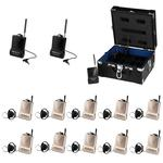 ATS-10 Tour Guide System- 2 x Transmitters 10 Receivers and 1 x Case