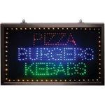Large Yellow/Red/Blue/Green Static Pizza, Burgers, Kebabs LED Sign